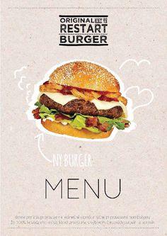 Cafe Menu Design, Food Menu Design, Food Poster Design, Food Graphic Design, Web Design, Flyer Restaurant, Restaurant Identity, Burger Menu, Food Promotion
