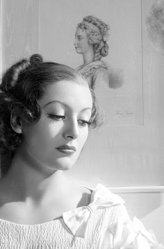 "Joan Crawford-- possibly publicity for ""The Gorgeous Hussy."""