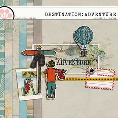Scrapbooking Blog Train - August 2013, DigiScrap Parade, Destination: Adventure. Lots of digital scrapbooking freebies!