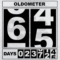65th Birthday Oldometer T-Shirt on CafePress.com