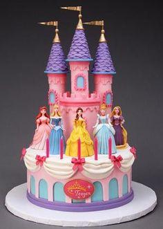M Reitsma Cake Design Disney Princess Birthday Cakes, Castle Birthday Cakes, Princess Birthday Party Decorations, Disney Birthday, Birthday Cake Girls, Castle Cakes, 4th Birthday, Disney Castle Cake, Rapunzel Birthday Cake