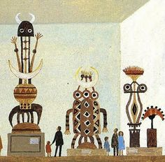 Alice and Martin Provensen: Town and Country. This is just a tiny fragment of an illustration of a museum within an illustration of a city. The detail of their work is just incredible.