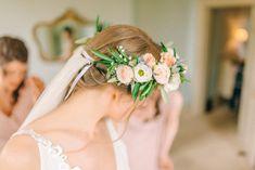 Pink & White Flower Crown