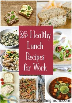 25 Healthy Lunch Recipes for Work Breakfast may be the most important meal of the day but lunch is no laughing matter Refuel for the rest of your day with one of these d. Healthy Cooking, Healthy Snacks, Healthy Eating, Cooking Recipes, Healthy Recipes, Veggie Recipes, Cooking Bacon, Breakfast Healthy, Lunch Snacks