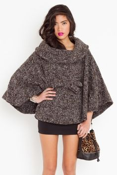 I almost never like tweed, but I'm oddly drawn to this.. Camden Tweed Cape, $98.00