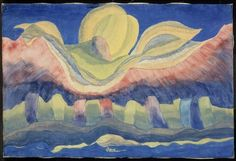 Arthur Dove, Rising Moon, 1941. Arthur Dove, whose abstractions from nature would influence many younger American artists, was born in Canandaigua, New York, in 1880