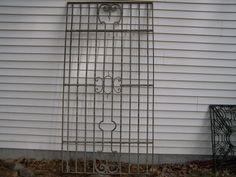 antique salvage art deco iron window or by TheLittleMuseumCo