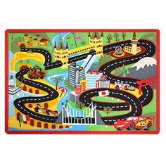 Gertmenian Disney Pixar Cars Racing Playmat Bedding Road Rug Interactive Game Rug w/ Lightning McQueen & Mater Toy Car, Multi-color, x Disney Pixar Cars, Disney Toys, Best Kids Toys, Toys For Boys, Cars 2 Movie, Kids Area Rugs, Lightning Mcqueen, Disney Merchandise, Race Cars