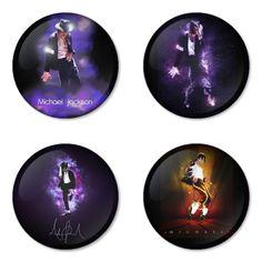 "MICHAEL JACKSON 1.75"" Badges Pinbacks, Mirror, Magnet, Bottle Opener Keychain http://www.amazon.com/gp/product/B00CCKPVTG"