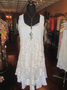 I'm in love with this tunic!! It's feminine and a bit ethereal - just lovely! Sz: S-XL $69