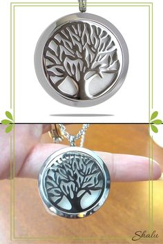Enjoy your oils in a new way. Inhale wellness wherever you go with this Tree of Life Aromatherapy Diffuser Necklace.