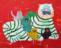Misaki Kawai | Tiger Family  (2008) | Artsy