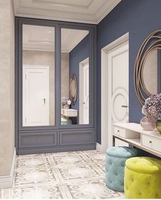 Ideas home decored hallway closet Hallway Decorating, Interior Decorating, Ikea Built In, Home Interior, Interior Design, Hallway Colours, Bright Apartment, Hallway Designs, Home Furniture