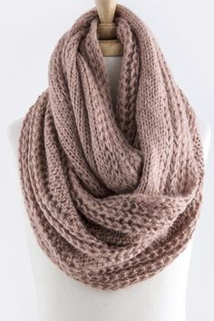 Cable Knit Infinity Scarf in Rose – Sweater Weather Co.