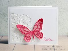 Clean and Simple cards using Tim Holtz dies from Sizzix | Create It Simply with Tami Mayberry
