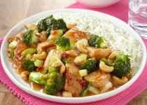 Indiase Kip Siam met broccoli