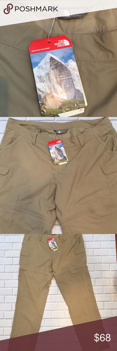 """The North Face Paramount 2.0 Convertible Pant Durable Water Repellent Finish outdoor, hiking pant. Roomy cargo patch pockets. Front and back pockets. Zip-off legs convert to short. Zipper fly and snap closure. Belt loops and inner waistband drawcord. Stow pocket back of inside. Rise approximately 9 3/4"""". Inseam approximately 32"""". The North Face Pants Track Pants & Joggers"""