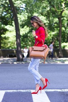 How to style red in your spring outfit : MartaBarcelonaStyle's Blog
