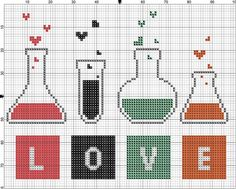 Chemistry of Love free cross stitch pattern