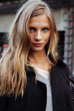 HOW TO: Model-Off-Duty Hair models offduty runway beauty hair