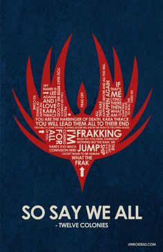 Battlestar Galactica poster. AHHHHHH it could go with my Battlestar propaganda posters!!!