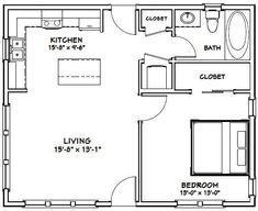 PDF house plans, garage plans, & shed plans. One Bedroom House Plans, 1 Bedroom House, Pool House Plans, Cottage Floor Plans, Small House Floor Plans, Bedroom Floor Plans, 20x30 House Plans, The Plan, How To Plan