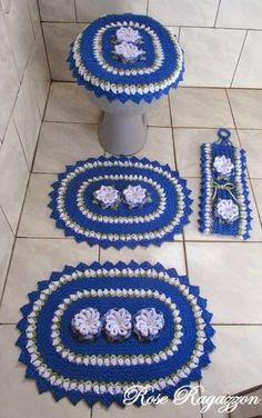 Rose Ragazzon Crochê: Jogo de Banheiro Primavera