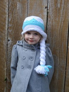 Elsa of Arendelle Frozen Crocheted Hat Pattern by HHCrafts on Etsy, $4.99