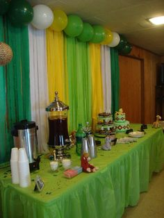 Safari Theme Baby Shower (( But In Our Colors)) Would Be Super Cute!