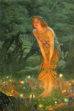"Edward Robert Hughes - ""Midsummer Eve"""