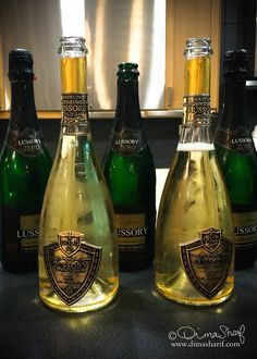 Lussory Gold champagne with 24 Carat GOld by Lootah Premium Foods at Dubai Workshop 2014 by Meeta K. Wolff