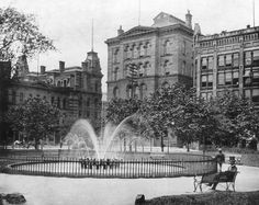 Public Square in Cleveland, 1888. (The Cleveland Public Library Collection/courtesy of Turner Publishing)