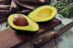 Fresh avocado on cut