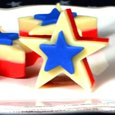 """Sour Cream Fudge Stars 