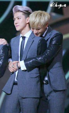 Tao & Sehun. Someone get Luhan!!! Tao is moving in using his maknae powers!!!!!! XD