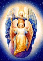 大天使ミカエルと、彼の聖なる片割れであるフェイスがプロテクションと判断と信仰心のために働いてくれます。この大天使たちは真実でないものを全て取り除いてくれます。大天使ミカエルの女性性の側面としてのフェイスがマリウス・マイケル-ジョージによって描かれています。