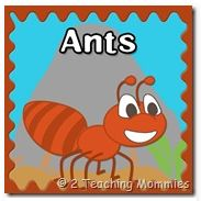 Ants printable lesson for preschoolers