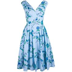 Forget-me-not 1950s Day Dress ($84) ❤ liked on Polyvore
