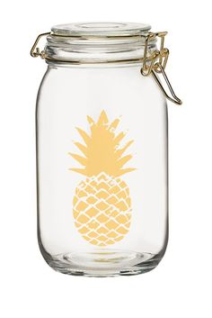 Luxe Pineapple Milan Hermetic 50oz. Preserving Glass Canister