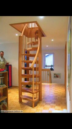 Tiny house stairs ideas tiny house stair ideas attic stairs ideas elegant amazing loft stair for . tiny house stairs ideas how to design storage Attic Staircase, Loft Stairs, Staircase Design, Attic Ladder, Staircase Ideas, Space Saving Staircase, Basement Stairs, Staircase For Small Spaces, Attic Loft