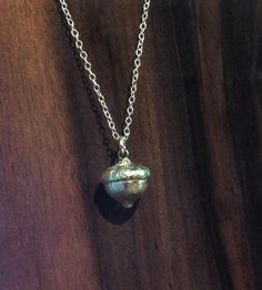 Acorn Sterling Silver Necklace