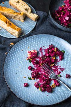 Super leckerer indischer-Kichererbsen-rote-Bete-Salat