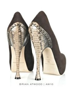 Brian Atwood.  Silver heels.