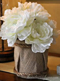 Repurpose an Empty Container For a Quick and Easy Floral Arrangement