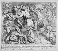 Athene and Zeus stop the fighting  17th century etching  Theodor van Thulden (1606 - 1669)  Fine Arts Museums of San Francisco Homer Odyssey, Greek And Roman Mythology, Etchings, Museum Of Fine Arts, 17th Century, Folklore, Museums, San Francisco, Tapestry