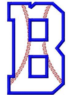 Baseball Stitch Applique Font Set Machine by LilliPadGifts, $8.50