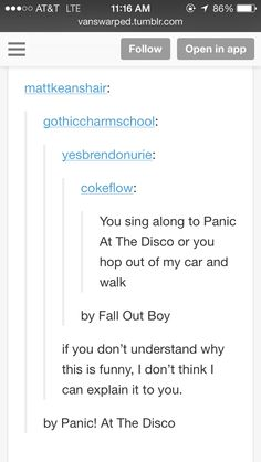 I don't think anyone can explain how hilarious this is. If you don't get it you're gonna be stuck in the dark where their songs know what you did