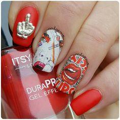 Charlies Nail Art - Punk rock pop art nail wraps, £0.89 (https://www.charliesnailart.co.uk/punk-rock-pop-art-nail-wraps/)