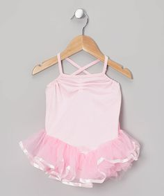 Look at this Pink Ballerina Tutu Leotard - Toddler & Girls on #zulily today!