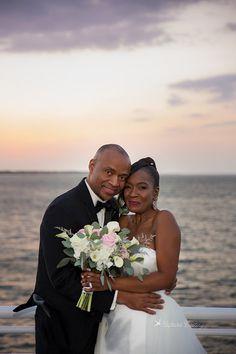 Amazingly beautiful couple married at sunset on the SOLARIS Yacht Sandestin 2017.